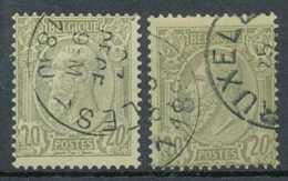 D - [13023]TB//O/Used-N° 47 + A, 20c Olive, Les 2 Nuances - 1884-1891 Léopold II