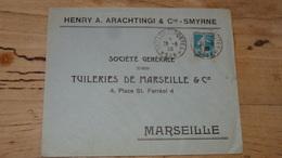Enveloppe Cachet TRESOR ET POSTES 528 - SMYRNE - 1920 - France (ex-colonies & Protectorats)