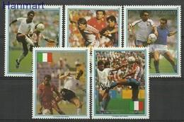 Paraguay 1989 Mi 4434-4438 MNH ( ZS3 PRG4434-4438 ) - 1990 – Italien