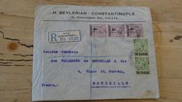 TURQUIE : LEVANT BRITANNIQUE : Enveloppe Recommandée 1922 Pour Marseille - Brits-Levant