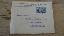 TURQUIE : LEVANT BRITANNIQUE : Enveloppe  1922 Pour Marseille - Levante Britannico