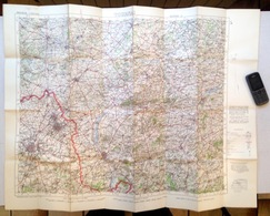 ©1917 TOURNAI CARTE D ETAT MAJOR Entoillée WAR LILLE ROUBAIX TOURCOING ATH ROESELARE KORTRIJK RONSE GERAARDSBERGEN S828 - Tournai