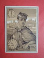 CHROMO  Lith. GIBERT-CLAREY.  Les Heures Dans Le Monde. Horloge. SYDNEY. Australie - Vieux Papiers