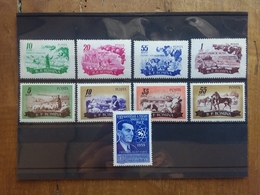 ROMANIA Anni '50 - Nn. 1539/42 + 1551/54 + N. A81 - Serie Complete Nuove ** + Spese Postali - Unused Stamps