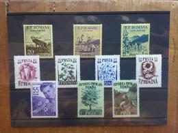 ROMANIA Anni '50 - Nn. 1464/66 + Nn. 1547/50 + N. 1578 + Nn. 1580/81 - Serie Complete Nuove ** + Spese Postali - Unused Stamps