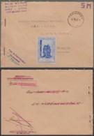 """BELGIQUE LETTRE EN FRANCHISE ECOLE POLICE MILITAIRE """"TERVUREN 12/01/1950 """" VIGNETTE GENDARMERIE (VG) DC-5304 - Belgium"""