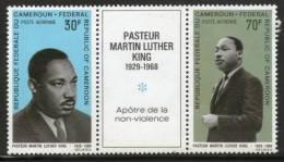 Cameroun 1968 Martin Luther King Nobel Prize Winner Apostle Of Non-Violence Setenant Pair Sc C111 & C115 MNH # 1979 - Martin Luther King