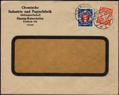 Germany - Chemische Industrie U. Papierfabrik Danzig - Kaiserhafen (Mi. 193, 200) MiF Brief, Danzig 30.3.1928. - Allemagne