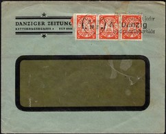Germany - DANZIGER ZEITUNG (MiNr. 193) MeF Breif Mit Werbestempel, Danzig 25.9.1929. - Allemagne