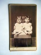 PHOTO CDV 19 Eme ENFANTS  MODE  CABINET MOUSSEAU  A VERNON - Photographs