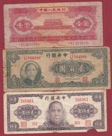 Chine 3 Billets (FORTE COTE EN UNC) Dans L 'état - China