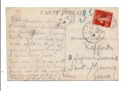 CARTE DE MARSEILLE PAQUEBOT POUR SAINT MAURICE SEINE 1914 - Marcophilie (Lettres)