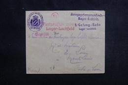ALLEMAGNE - Enveloppe Du Camp De Prisonniers De Guerre De Lechfeld Pour La France En 1915 - L 50401 - Deutschland