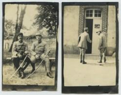 Guerre De 1914-18 . Ecole D'Artillerie De Fontainebleau . Août 1916 . 3 Photos . - Guerra, Militari