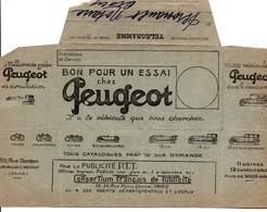Télégramme Publicitaire Peugeot - Crocy Calvados 1925 - Voiture Vélo Moto - Télégraphes Et Téléphones