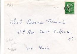 Petit Cachet De Facteur Sur Marianne Cheffer - Marcophilie (Lettres)