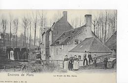 1 Cpa Environs De Mons : Moulin De Ste Denis, Animation - Mons