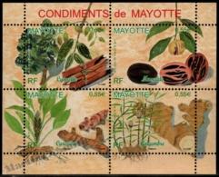 Mayotte 2008 Yvert 210-213, Mayotte Spices - MNH - Ungebraucht