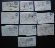 Caen, Lot De 10 Lettres Classiques Pour Dax (Landes) Oblitération Cérès Voir Photos - 1849-1876: Période Classique