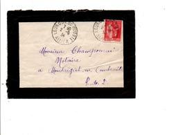 LETTRE DE LOUROUX DE BOUBLE ALLIER 1934 - Marcofilie (Brieven)