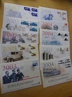 Dt. Post Jubiläumsbriefe 10 Stück Aus 2003+2004 (12249) - BRD