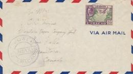Curacao - 1943 -  35 Cent Luchtpost Op Censored Cover Van Ned. Troepen Curacao Naar Canada - Censuurstempel H1 - Grey - Curaçao, Antilles Neérlandaises, Aruba