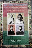 Ghana 2019 Mahatma Gandhi India Indian Theme Embossed Selective Varnished Stamp Sheetlet MNH - Mahatma Gandhi