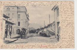 Schuls - Hotel Post Mit Postkutsche - 1901                (P-205-90423) - GR Grisons