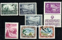 Yugoslavia 7 Sellos Aéreos. Cat.40€ - Luftpost
