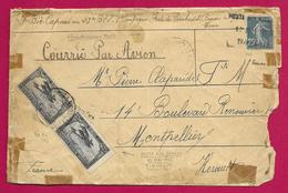 Enveloppe Expédiée Par Avion En 1925 - Maroc - Timahdite - Affranchissement Mixte Maroc - France - Poststempel (Briefe)