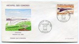 RC 15075 COMORES 1969 CONCORDE 1er VOL / MORONI FIRST FLIGHT 1er JOUR FDC - Concorde