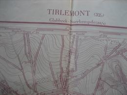 Kaatr 1:10000 1933 - TIENEN Carte N° 32/8 - Impr. Lithographique De L'Institut Cartographique Militaire Bruxelles - 1933 - Cartes Topographiques