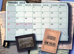 POLACOS DE LA PROVINCIA DE SANTA FE. POLISH. POLSKA. POLAND. MIGRATION TO ARGENTINA. CALENDARIO 2012. FEBRERO. -NTVG. - Tamaño Grande : 2001-...