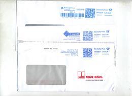 5 Lettre Flamme Ema Frankit Service Postal - [7] West-Duitsland