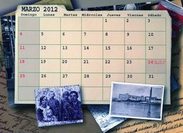 POLACOS DE LA PROVINCIA DE SANTA FE. POLISH. POLSKA. POLAND. MIGRATION TO ARGENTINA. CALENDARIO 2012. MARZO.MARCH -NTVG. - Tamaño Grande : 2001-...