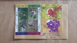 Enveloppe Argentine Avec Timbres Colibri Et Fleurs - Argentina