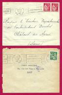 Deux Enveloppes Avec Flammes De Propagande - Drôle De Guerre - Janvier Et Février 1940 - Oorlog 1939-45