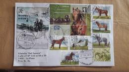 Enveloppe Argentine Avec Timbres Chevaux - Horses