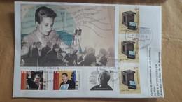 Enveloppe Argentine Avec Timbres Evita, Chaves, Mandela Et Autres - Femmes Célèbres