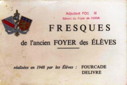 Carnet De 32 Reproductions De Photos De Fresques De L'ancienne Ecole Du Service De Santé Des Armées De LYON _CPS032 - Documenti