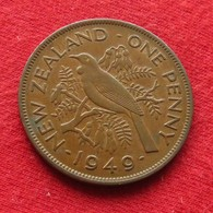 New Zealand 1 Penny 1949 KM# 21 *V1  Nova Zelandia Nuova Zelanda Nouvelle Zelande - New Zealand