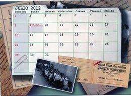 POLACOS DE LA PROVINCIA DE SANTA FE. POLISH. POLSKA. POLAND. MIGRATION TO ARGENTINA. CALENDARIO 2012. JULIO JULY. -NTVG. - Calendarios