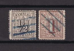 Hamburg - 1864 - Michel Nr.10/11 - Gest. - 40 Euro - Hambourg