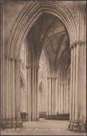 Across Nave, York Minster, Yorkshire, 1924 - Frith's Postcard - York