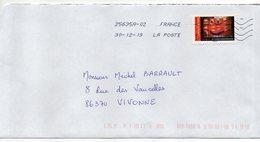 """2019-- Tp  Adhésif    """" Masque N° 7 -- Durazzo  """"  Seul Sur Lettre--- - Marcophilie (Lettres)"""