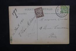 FRANCE - Taxe De Paris ( Oblitération Ancre ) Sur Carte Postale De Belgique En 1911 - L 50411 - Marcophilie (Lettres)