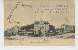 ALSACE - SAALES - Sanatorium Tannenberg (cachet Militaire ) - Francia