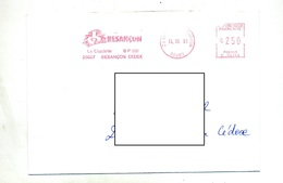 Lettre Flamme Ema Besançon Citadelle - Affrancature Meccaniche Rosse (EMA)