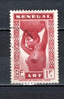 SENEGAL   N° 147   OBLITERE   COTE  1.40€   FEMME - Sénégal (1887-1944)