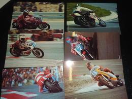 LOT DE 6 PHOTOS CIRCUIT PAUL RICARD AGOSTINI LANSIVUORI CECOTTO CHOUKROUN PHIL READ - PHOTO ALAIN COCHET - 83 VAR (AG) - Motorbikes